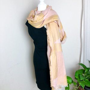 Madewell New Forms Stitched Scarf Nectar Gold Pink